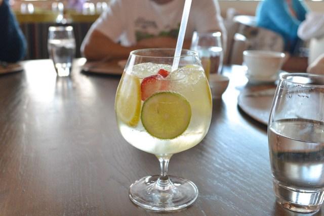 Giada's Sangria prosecco, fresh lemon, lime, strawberries, mojito mint syrup