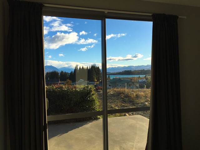 View from Holiday House, Tekapo