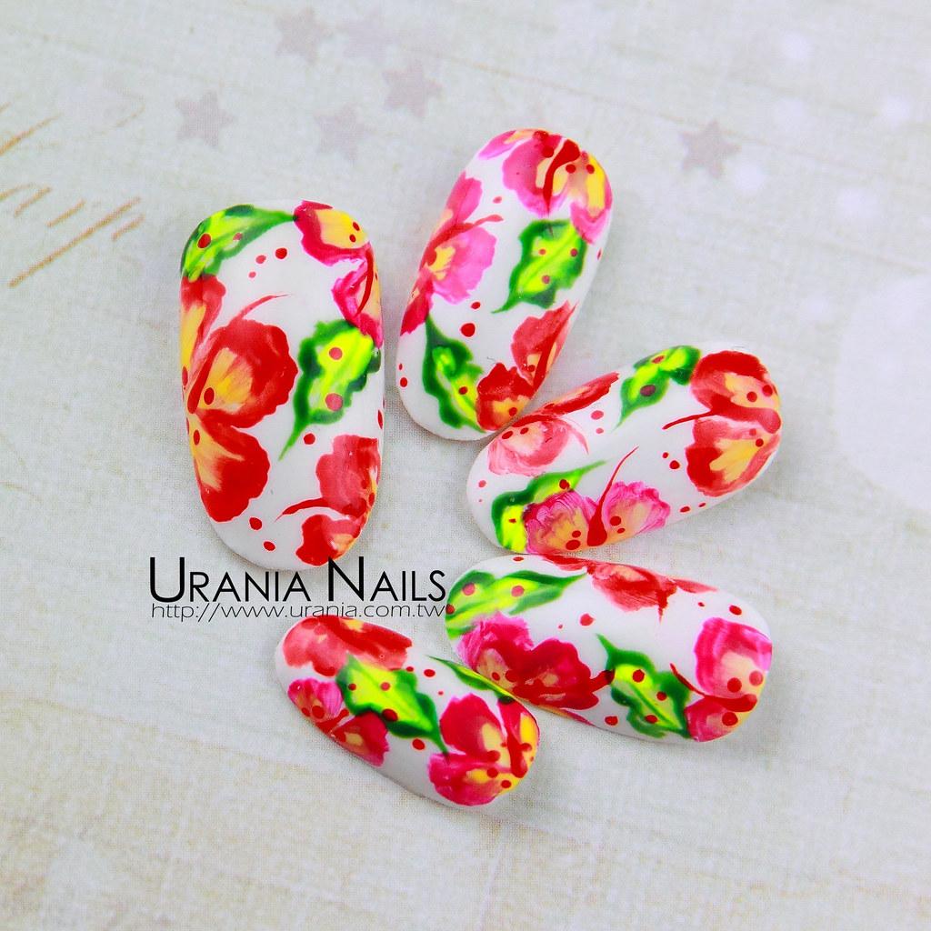 ♥ 指甲上的花花世界!花卉彩繪的指上藝術 2