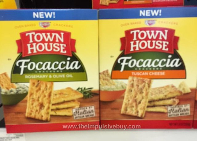 Keebler Town House Focaccia Crackers (Rosemary & Olive Oil and Tuscan Cheese)