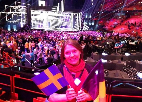 #eurovision #esc2016 Love from Globen in Stockholm x