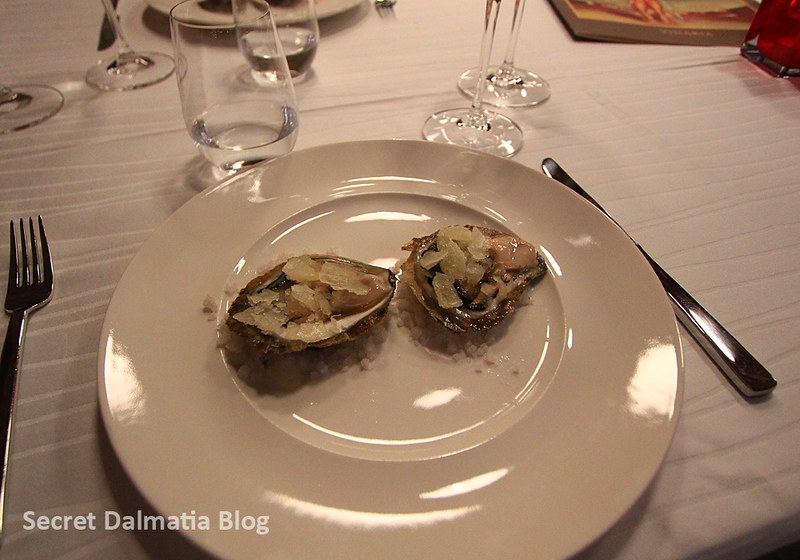 When on Peljesac... Ston oysters with lemon granita