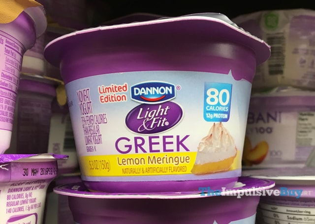 Limited Edition Dannon Light & Fit Lemon Meringue Greek Yogurt