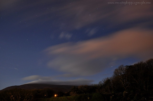 Snaefell Mountains night view