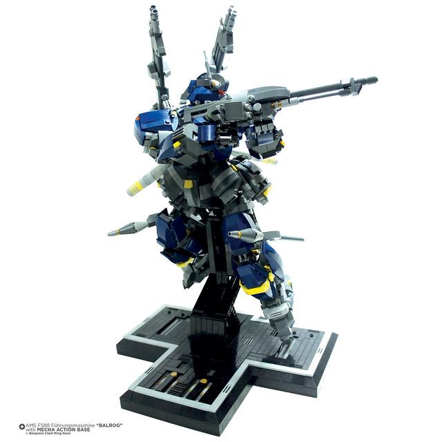 """Gundam AMS FS88 Fuhrungsmachine """"Balrog"""" Part 1 series"""