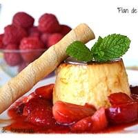 Flan de queso y miel