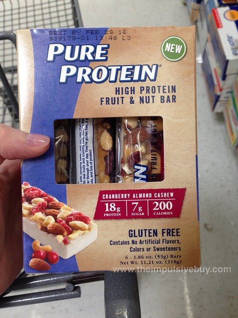 Pure Protein Cranberry Almond Cashew High Protein Fruit & Nut Bar