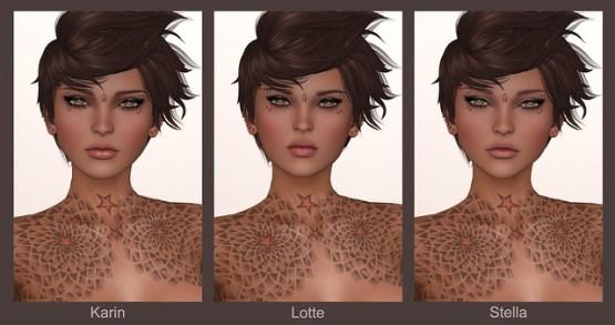 LeLutka Mesh Heads - Karin - Lotte - Stella