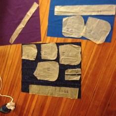 Belt pouch: cutting diagram