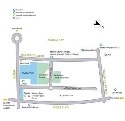 blue baywalk location map