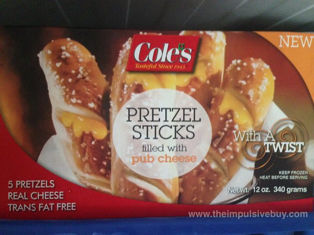 Cole's Pretzel Sticks filled with Pub Cheese