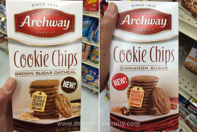 Archway Cookie Chips (Brown Sugar Oatmeal and Cinnamon Sugar)