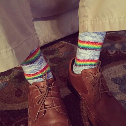 Carlos\'s Rainbow Socks