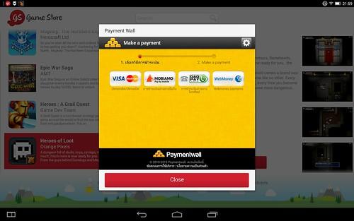 เกมบน Gamestore ของ Lenovo Yoga Tablet 2 10.1 ออกแนวต้องเสียเงินเยอะ ไม่แนะนำให้ลอง