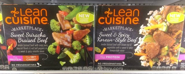 Lean Cuisine Marketplace Sweet Sriracha Braised Beef and Sweet & Spicy Korean-Style Beef