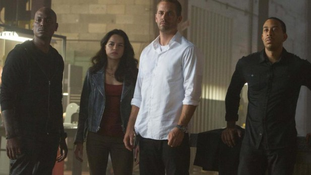 Paul Walker front and centre.