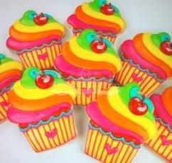Rainbow Cupcakes Neon