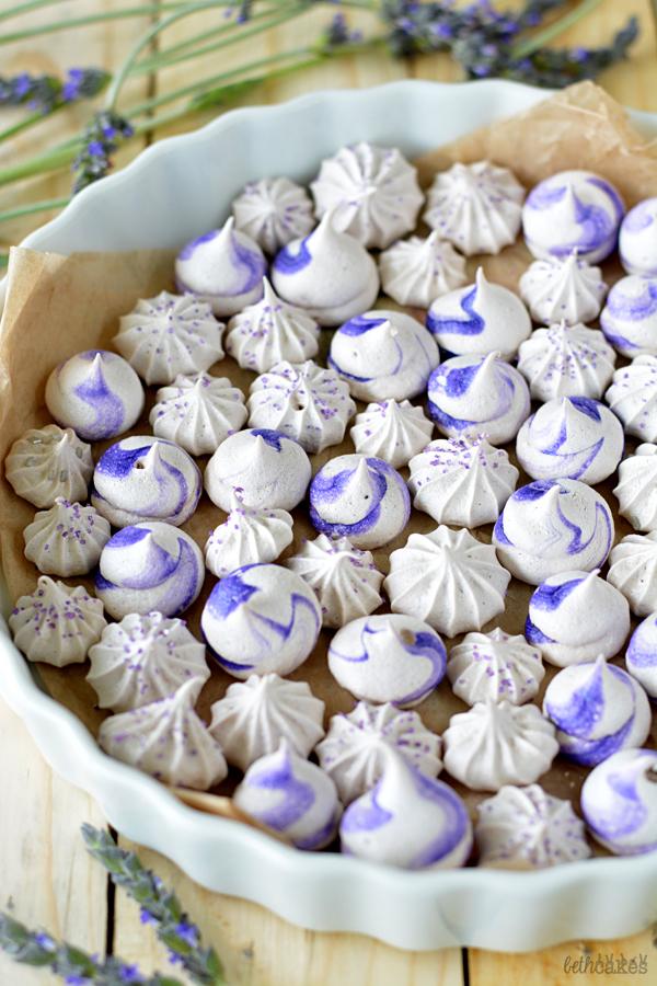 Lavender Meringues! bethcakes.com