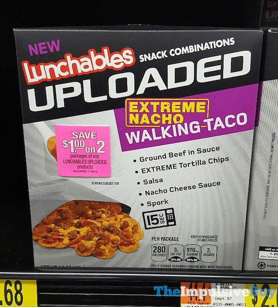 Lunchables Uploaded Extreme Nacho Walking Taco