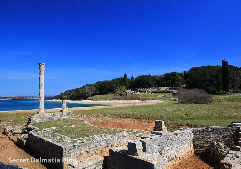 Ruins of a huge Roman villa