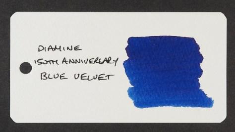 Diamine 150th Anniversary Blue Velvet - Word Card