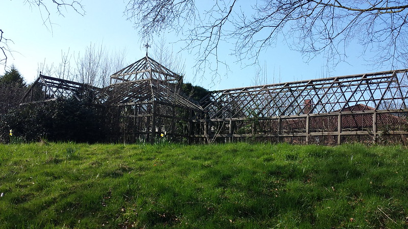 Buile Hill Park greenhouse skeleton