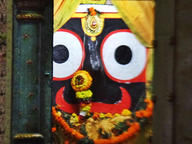 four idol of the Lord jagannath inside jagananth temple