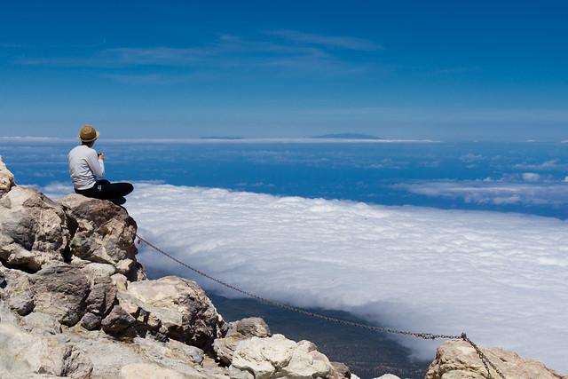 Über dem Wolkenmeer