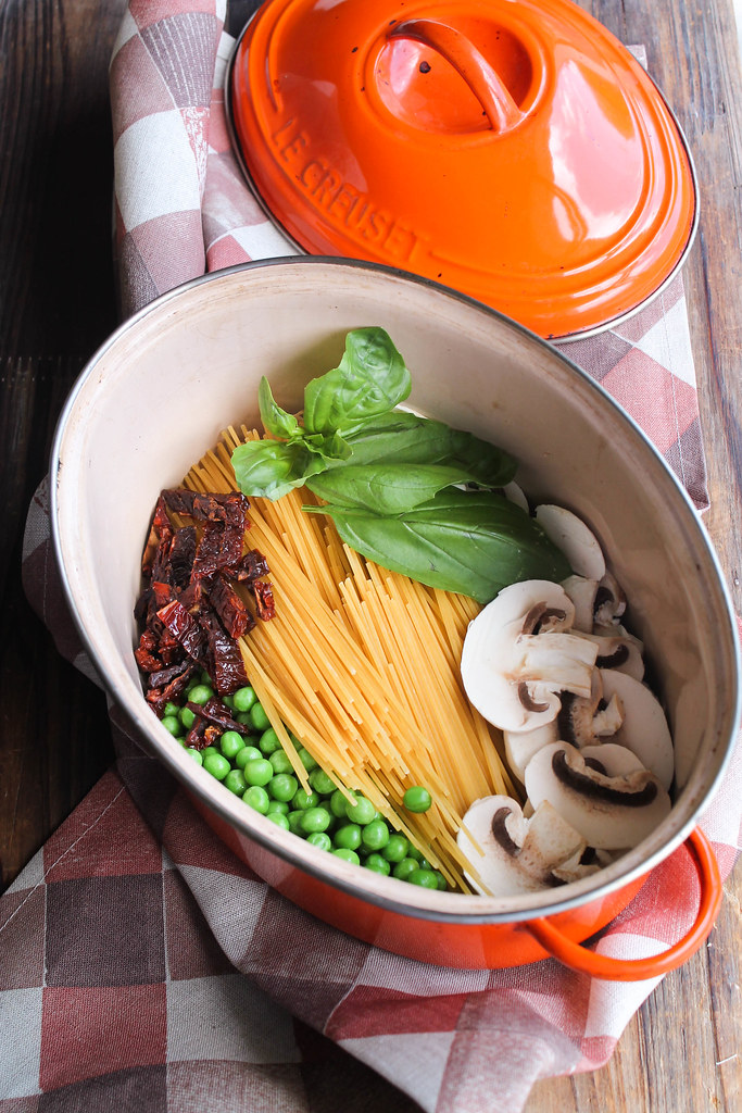 One pot pasta champignons