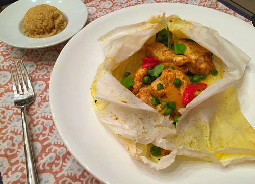 curried chicken with lemongrass and vegetables