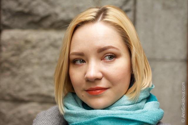 02 Guerlain KissKiss Lipstick #540 Peach Satin makeup swatches Ann Sokolova