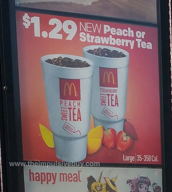 McDonald's Peach Tea and Strawberry Tea