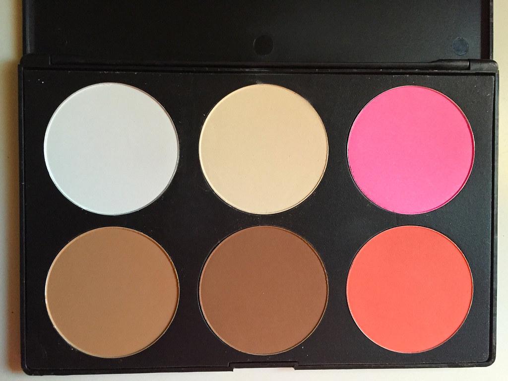 Blush Contour Palette makeup