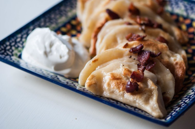 Cheese and Caramelized Onion Pierogi