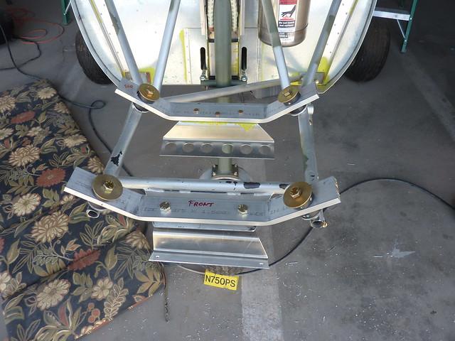 Radiator bracket and oil cooler drilled