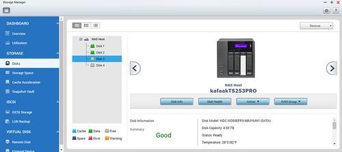 ของเก่าเป็น WD Red 6TB 2 ลูก RAID1 แต่จะเพิ่ม WD Red 5TB อีก 2 ลูก ทำ RAID5 แทน