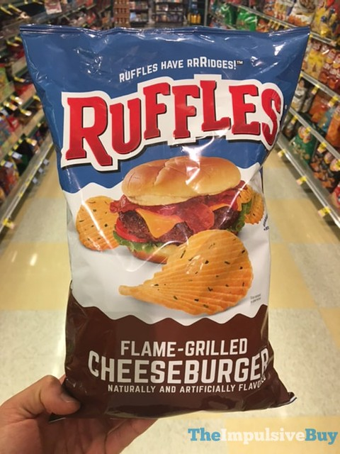 Ruffles Flame Grilled Cheeseburger Potato Chips
