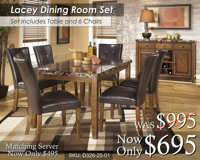 Lacey Dining Set 6 Chairs