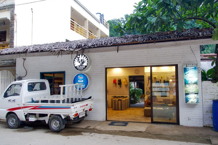 Palawan Divers dive shop.