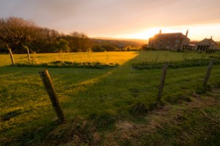 Sunset at the farm. Whitby