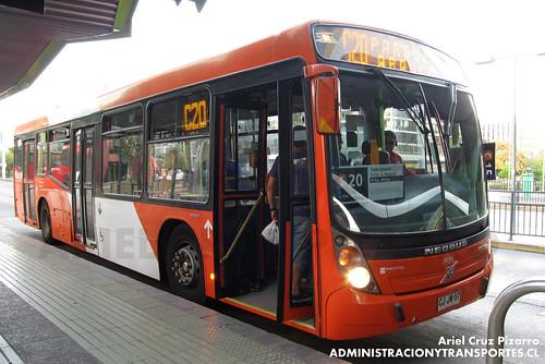 Transantiago - Redbus Urbano - Neobus Mega Low Entry / Volvo (CJJW57)