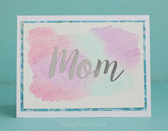 Mothers Day Card with Watercolor and Foil by Kelly Wayment