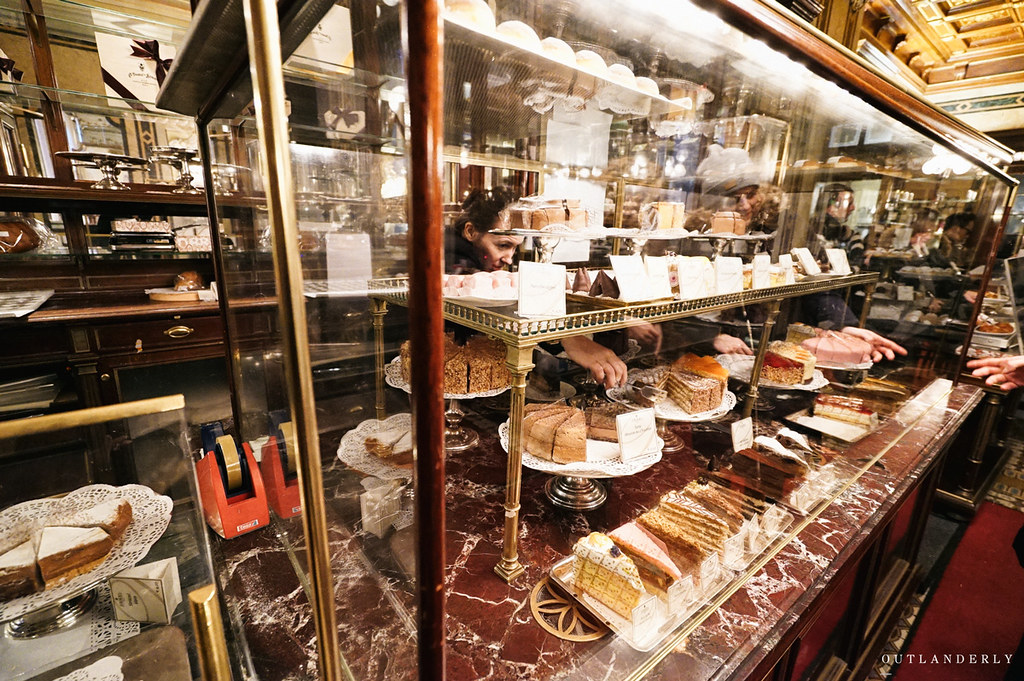 Demel's cafe chocolate cakes