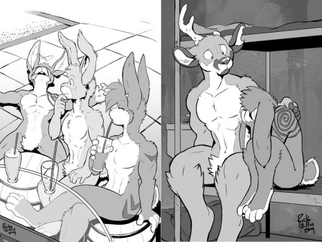 Pit Fighters 1 The Opportunity Rick Griffin Furry LGBTQ Paris Sample Page