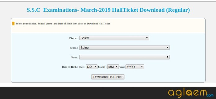 TS SSC Hall Ticket 2019