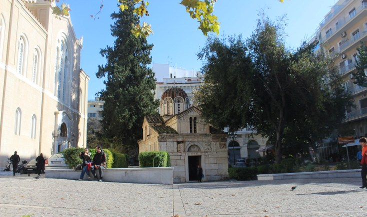 Cathedral and church, Athens