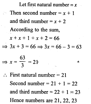 Selina Concise Mathematics Class 6 ICSE Solutions - Simple (Linear) Equations (Including Word Problems) - d10