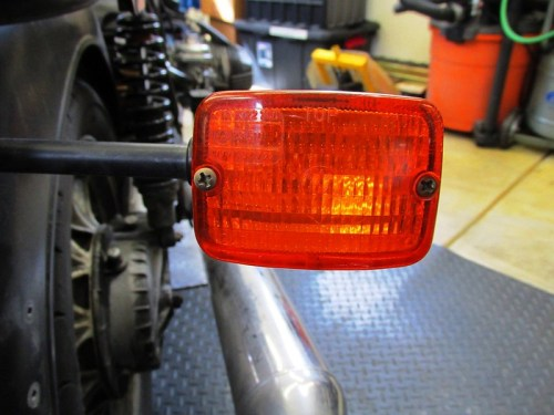 Rear Turn Signal Lens Secured With Two Screws