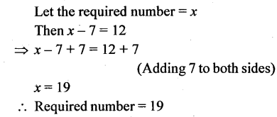 Selina Concise Mathematics Class 6 ICSE Solutions - Simple (Linear) Equations (Including Word Problems) - d11