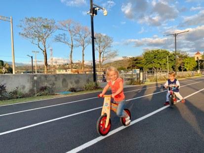 Isa cycling in San Jose